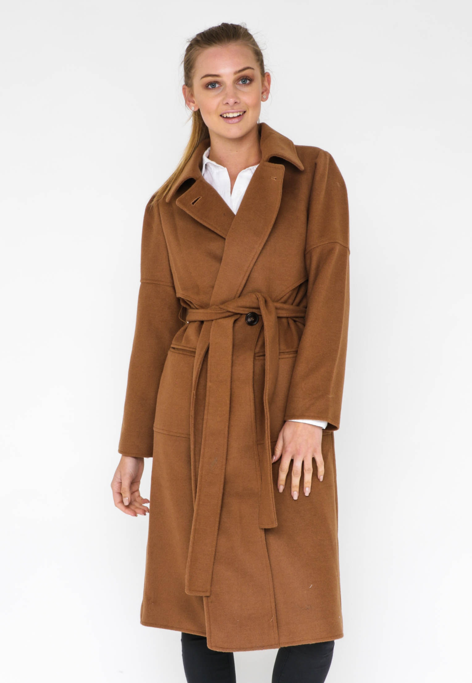 FELICIA WOOL COAT  - CAMEL