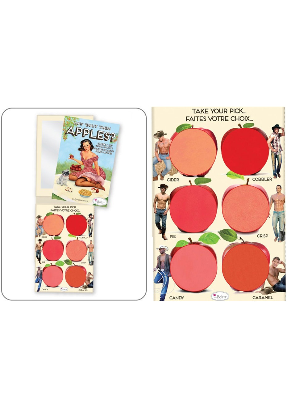 theBalm How Bout Them Apples Lip and Cheek Cream Palette