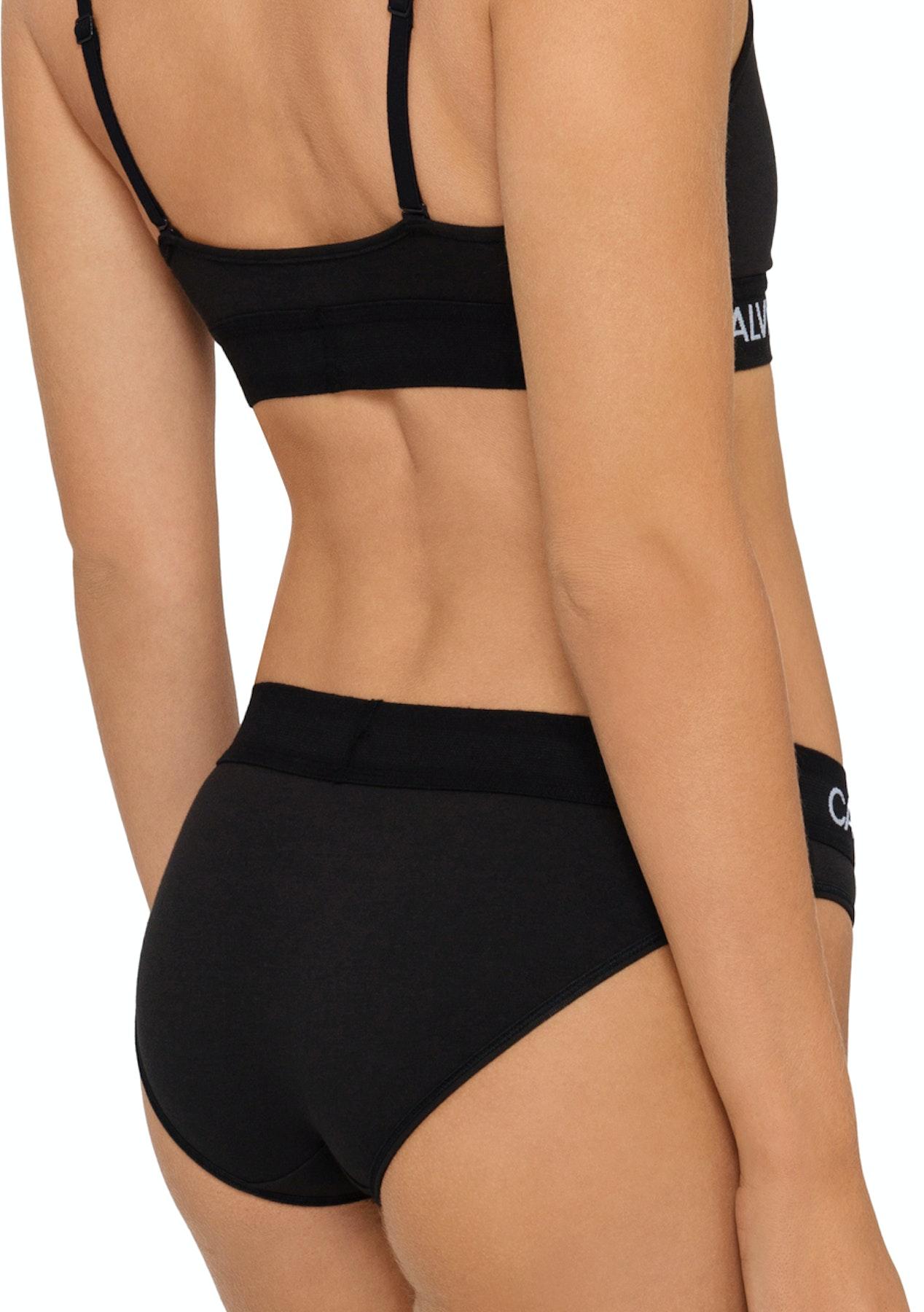 544d2ee8c81 Calvin Klein - Monogram Unlined Triangle - Black - Underwear Garage Sale -  Onceit