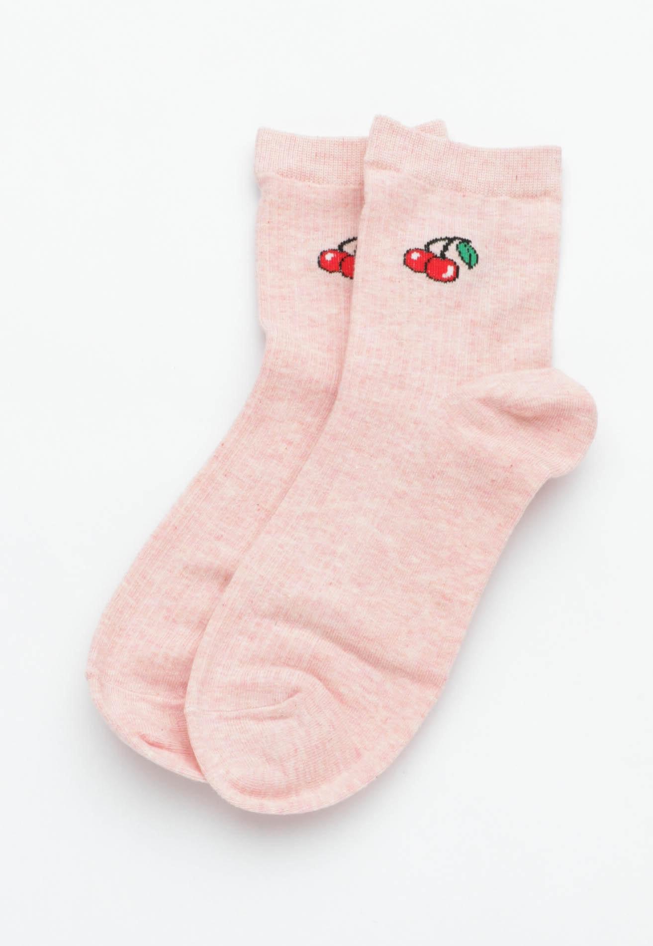 Cherry Socks - Blush