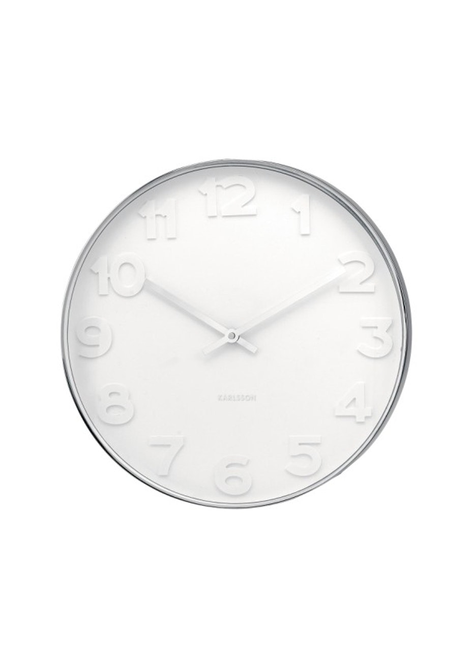 Karlsson - Wall Clock Mr White Numbers - Large