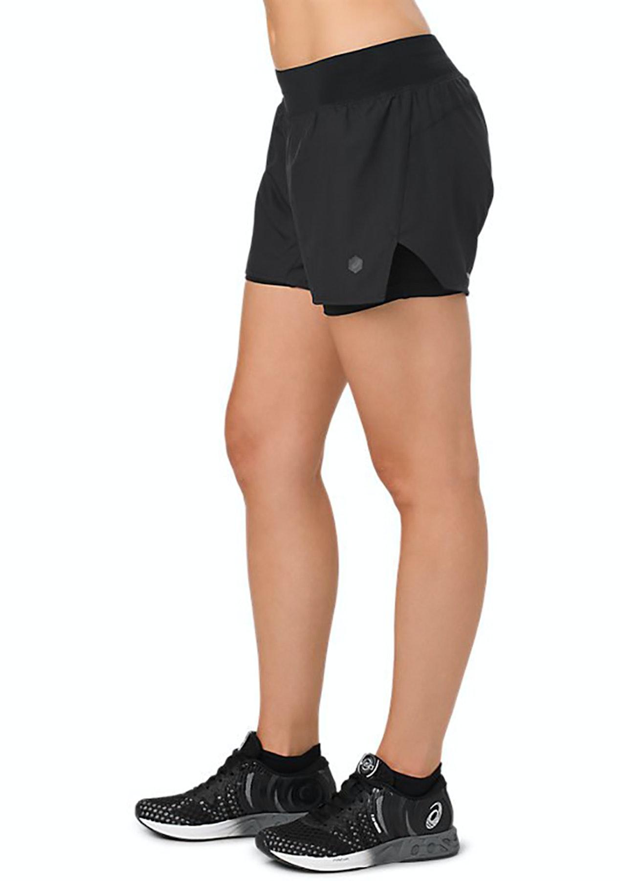 721b667ca1 Asics - Womens Cool 2-N-1 3.5In Short - Performance Black