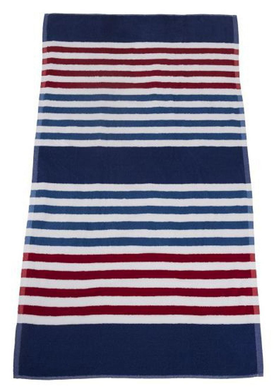 Seaside Stripe Beach Towel Red
