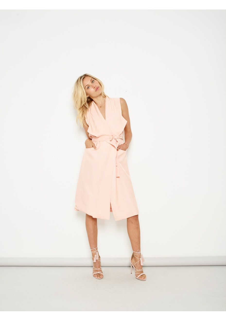 MINKPINK - New In Town Waterfall Vest - Blush