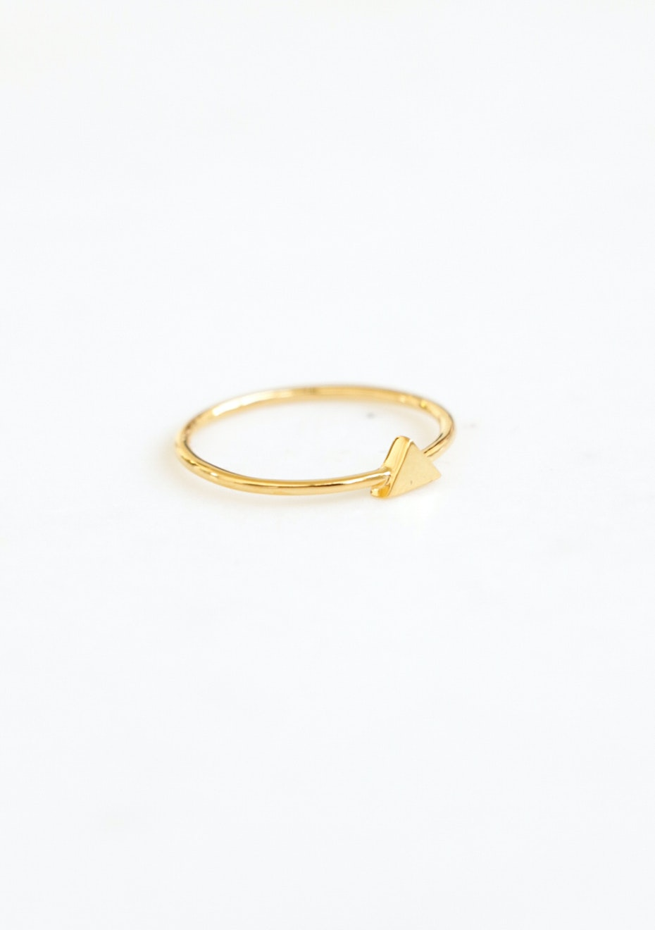 Triangle Ring  - Gold Plated