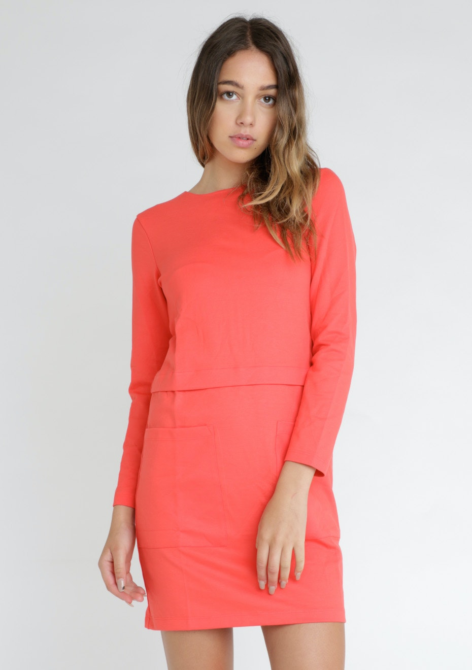 FRENCH CONNECTION - DRESS - RIOT RED