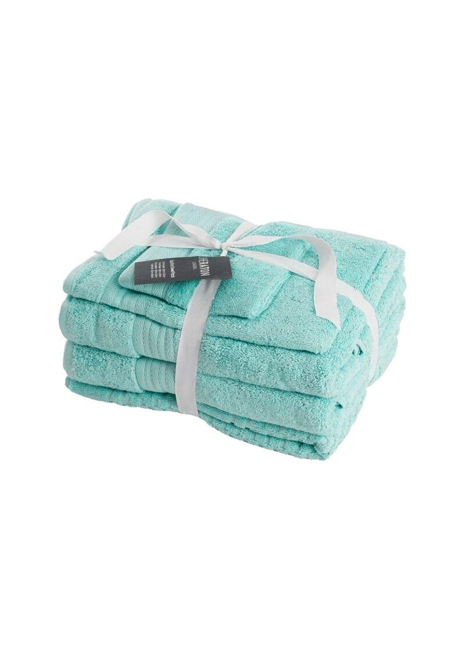Sheraton Egptian 5 Piece Towel Pack - Colour Seafoam