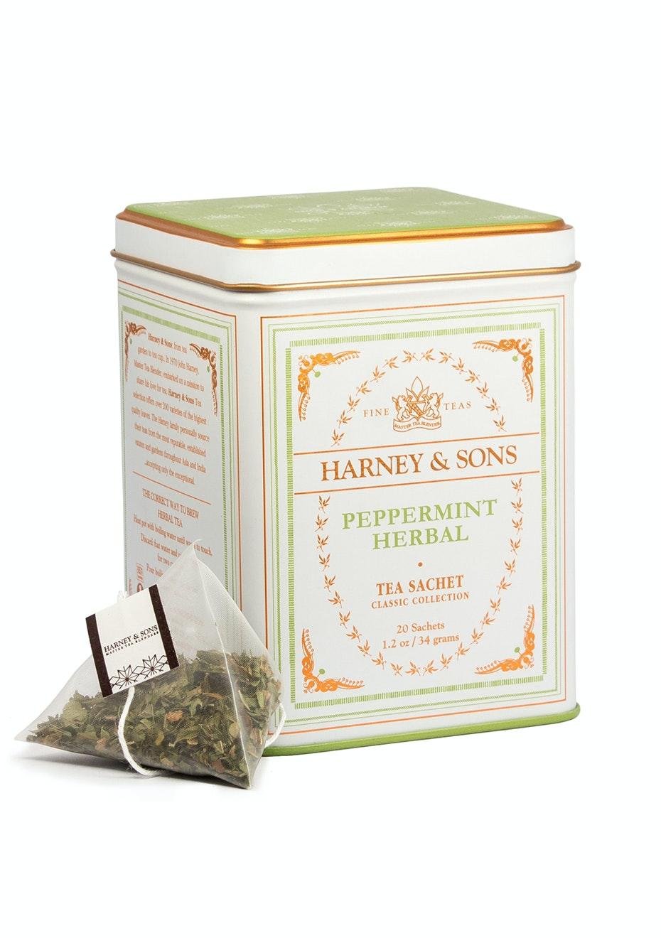 Harney & Sons - Peppermint Herbal - 20 Sachet Tin