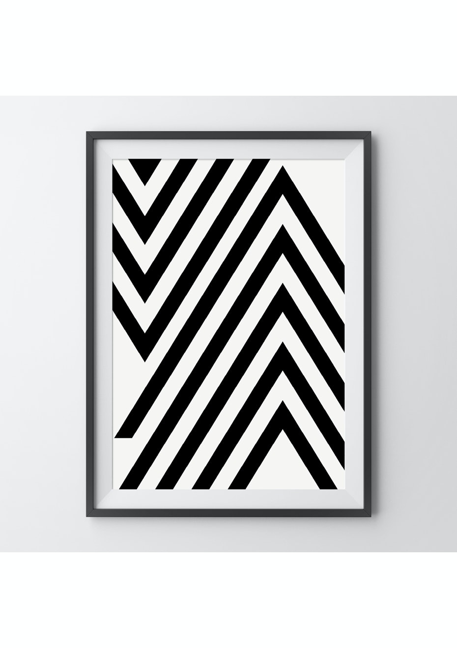 Simply Creative - Chevron - A4 Monochrome Print
