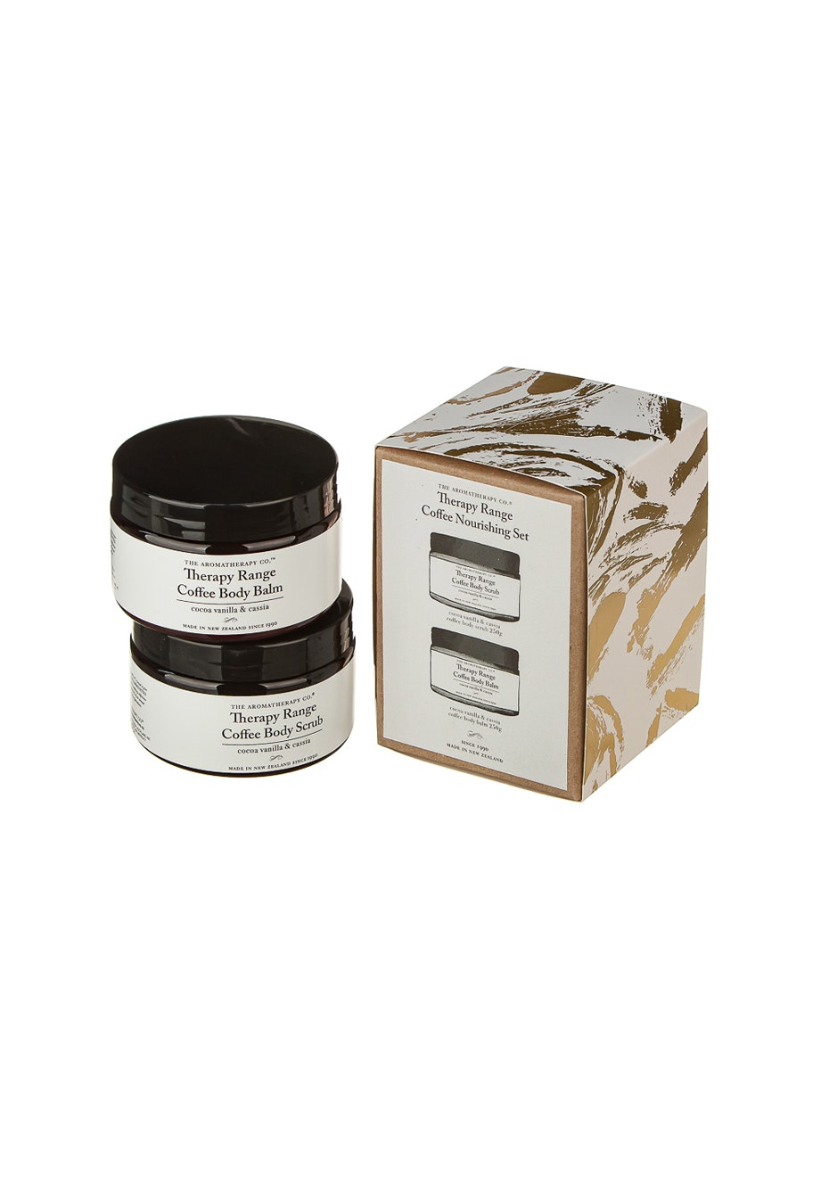 The Aromatherapy Co.  Coffee Nourishing Gift Set - Cocoa Vanilla & Cassia and coffee