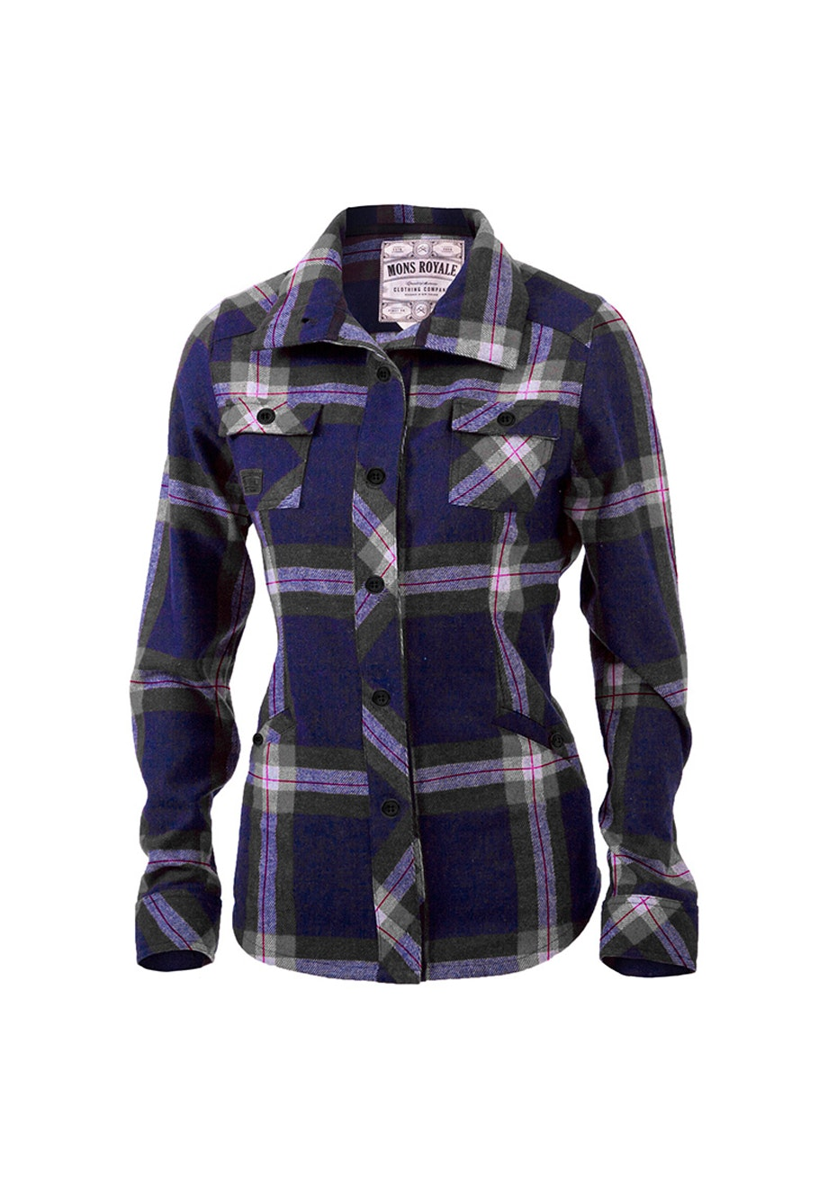 Mons Royale - Mountain Shirt - Navy / Charcoal Check