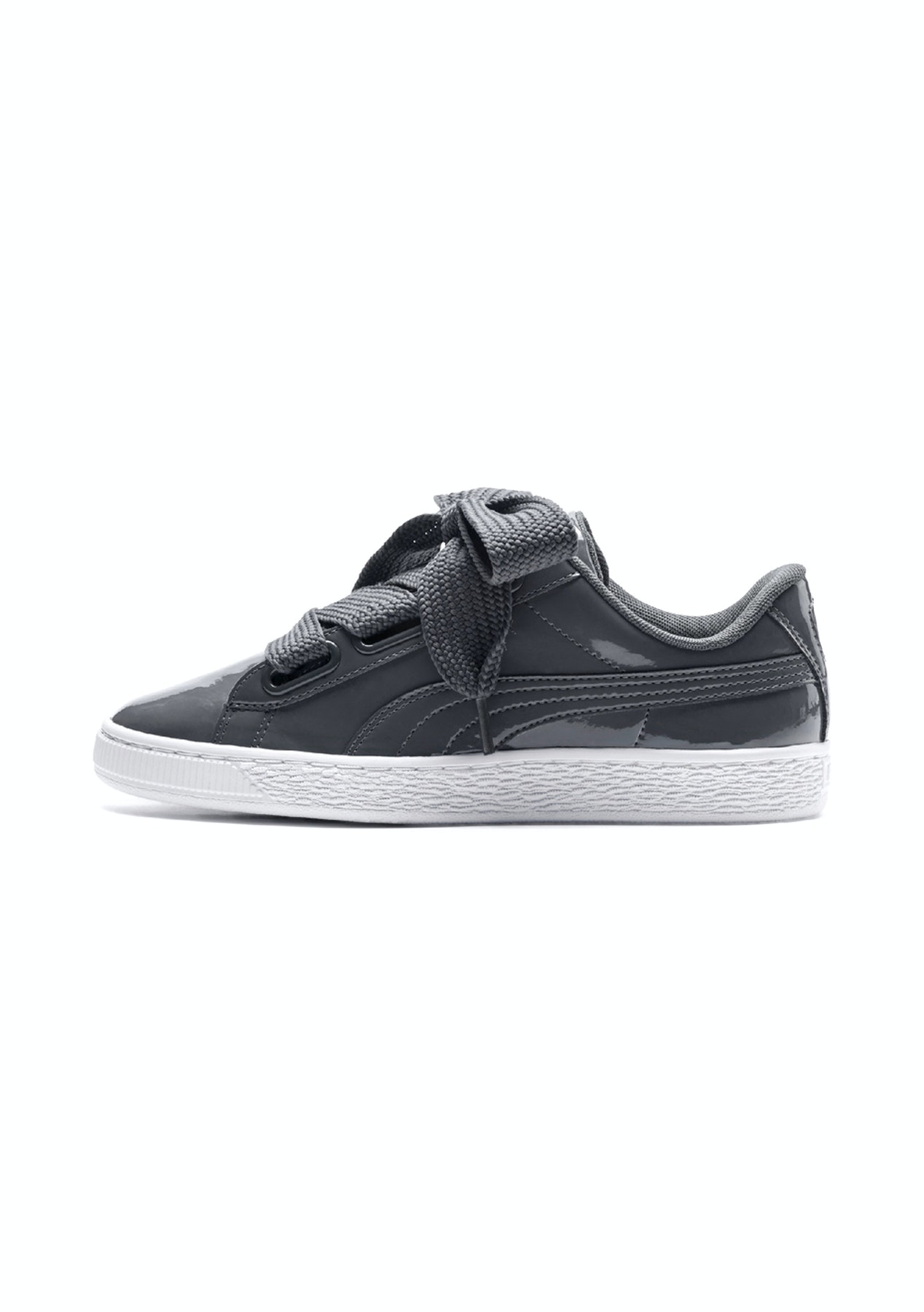 outlet store c66aa 4a576 Puma Womens - Basket Heart Patent - Iron