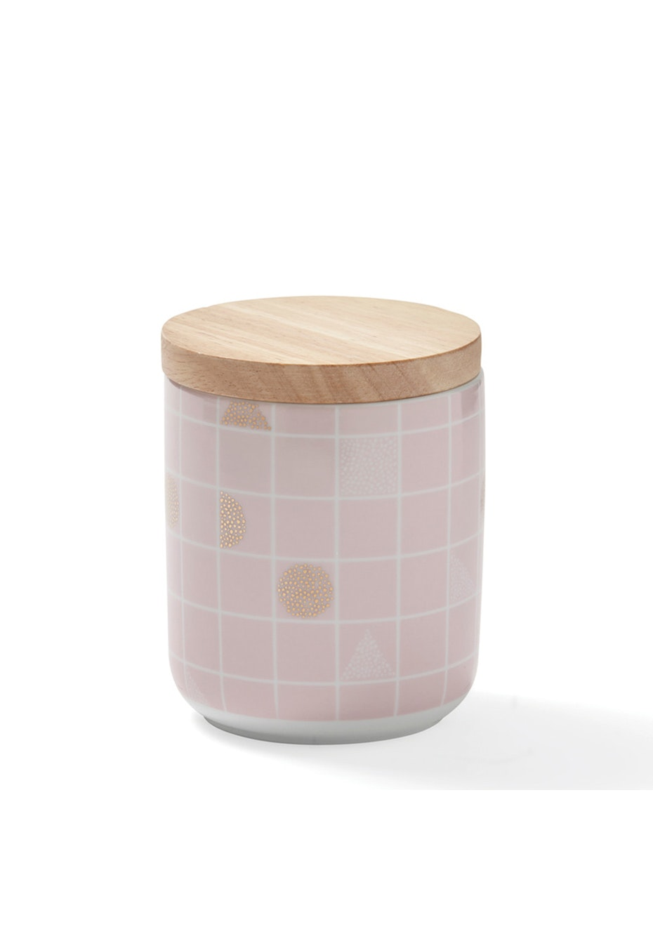 Me & My Trend - Tall Pink Grid Canister
