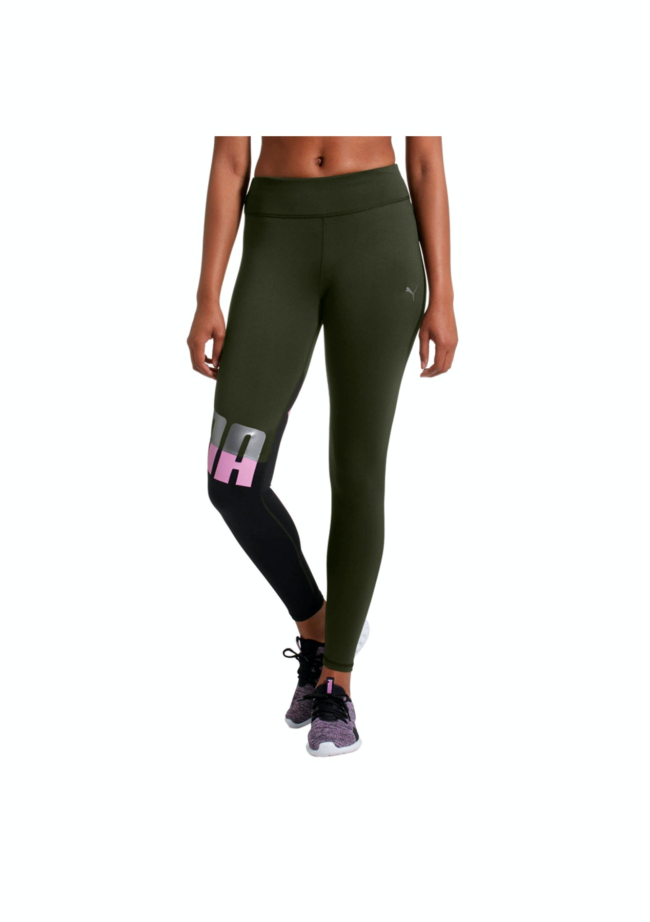 60c0cabbbc964 Puma - Womens All Me 7/8 Tight - Forest Night/Black - Puma Express Shipping  - Onceit
