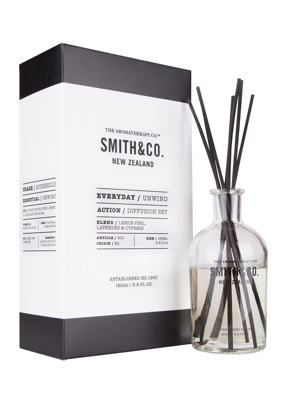 The Aromatherapy Co.  Smith & Co. Diffusion set - Unwind