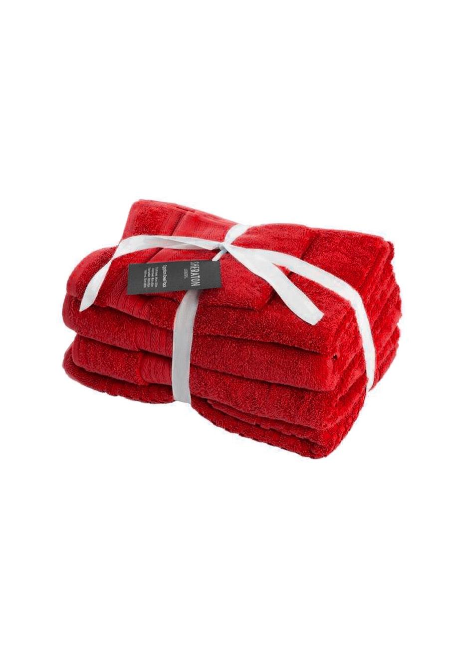 Sheraton Egptian 5 Piece Towel Pack - Colour Rouge