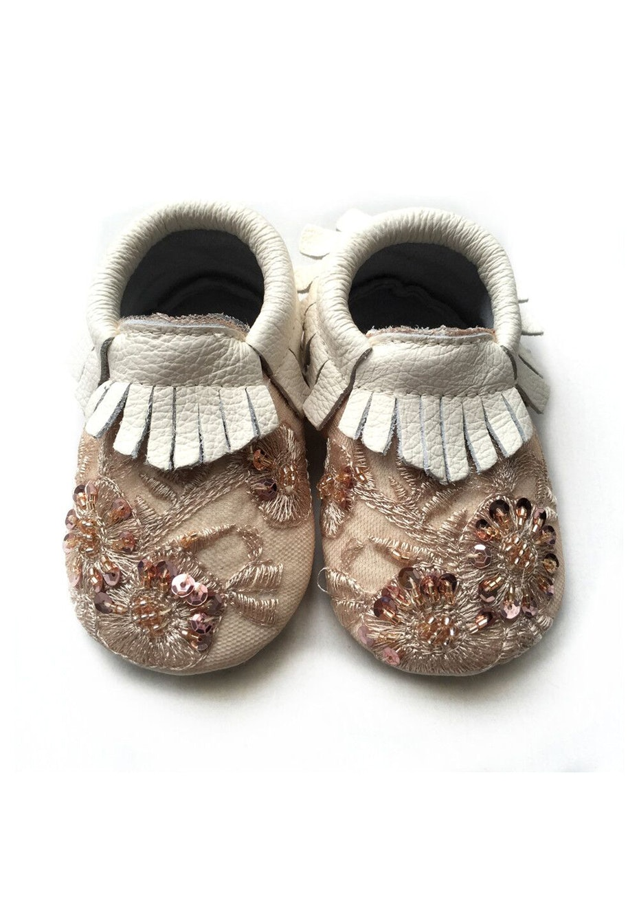 Baby  Leather Shoes - White Pink