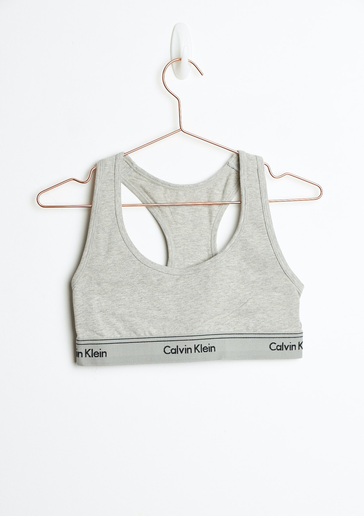 9ab01f26d7ae4 Calvin Klein - Heritage Athletic Unlined Bralette - Grey Heather - New  Season CK Colour Pop - Onceit