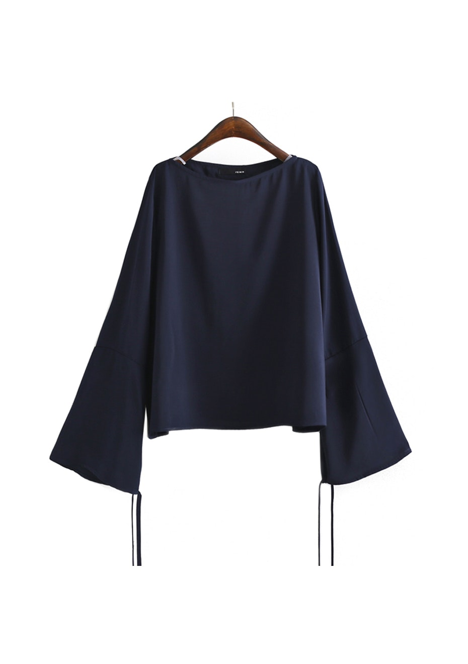 Lolita Flared Sleeve Top - Navy