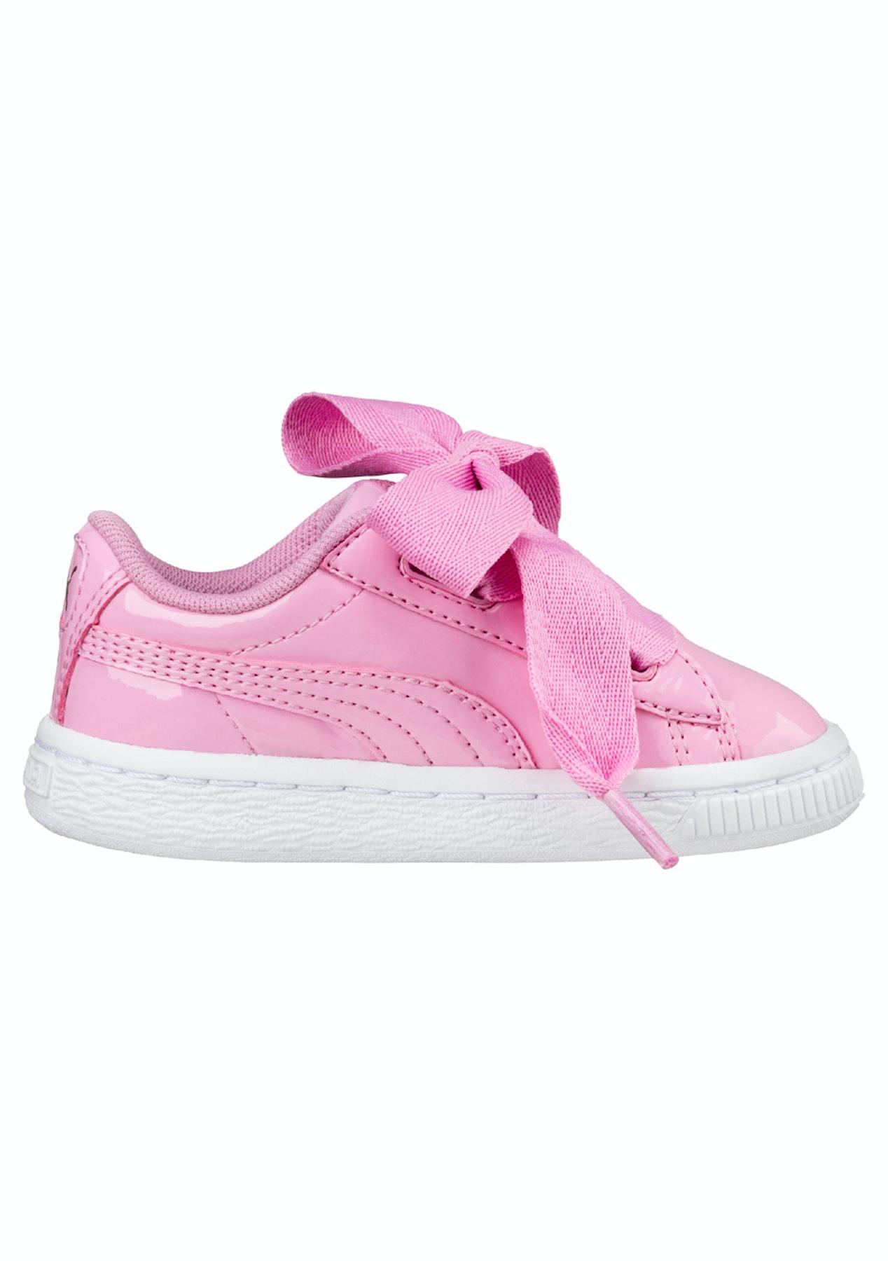 new style 5853e c10a4 Puma Infant - Basket Heart Patent - Pink