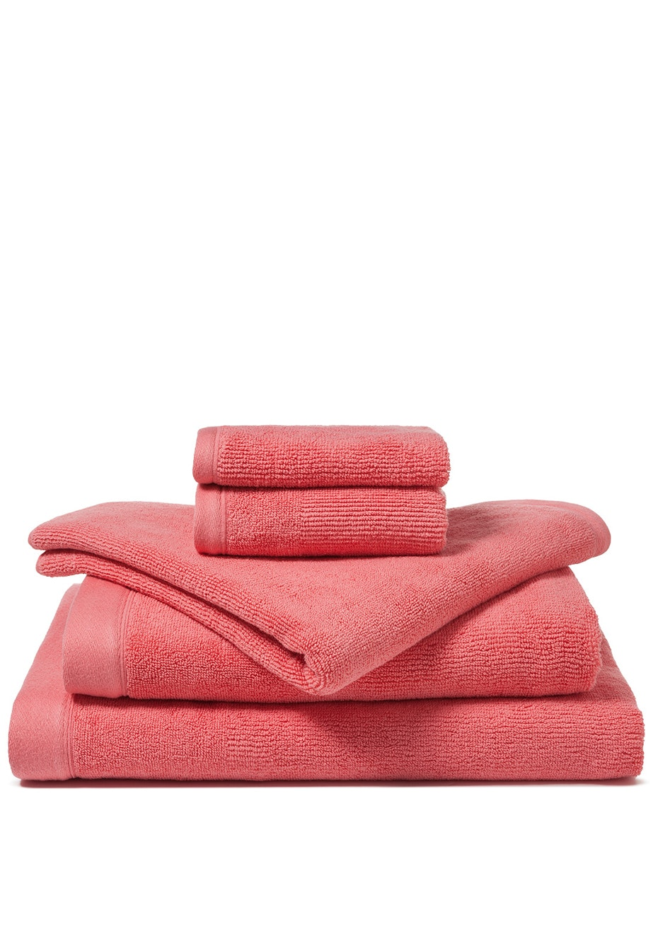 Canningvale - Corduroy Rib Bath Sheet Shell Pink