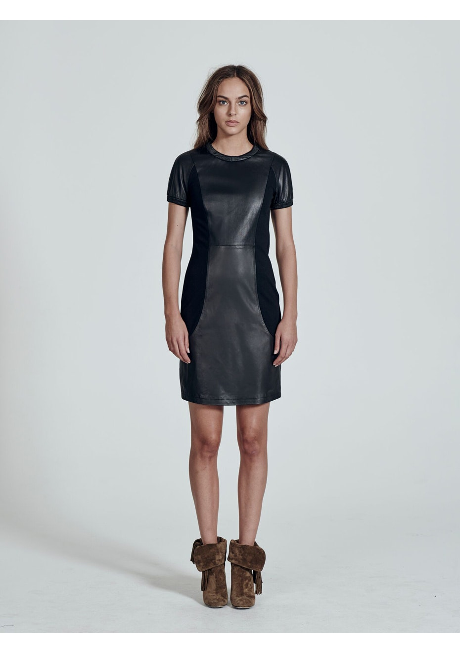 West 14th - The Hearst Building Leather Dress - Black