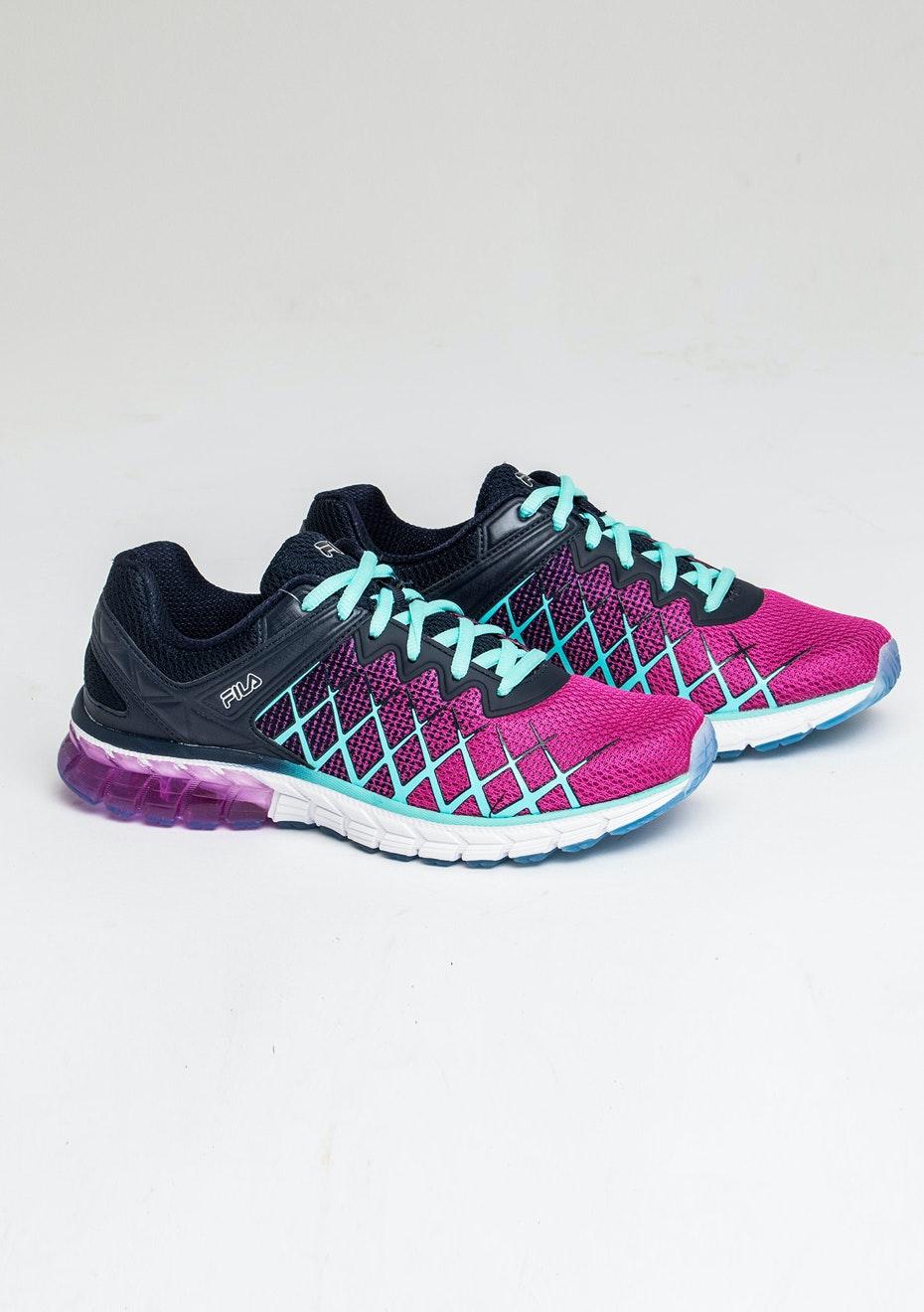 fila running shoes womens. fila - guardian 2 energized purple/navy/aqua blue running shoes womens