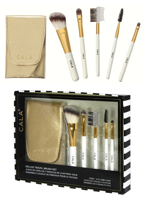Cala 5pc Cosmetic Brush Kit with Gold Case 76654