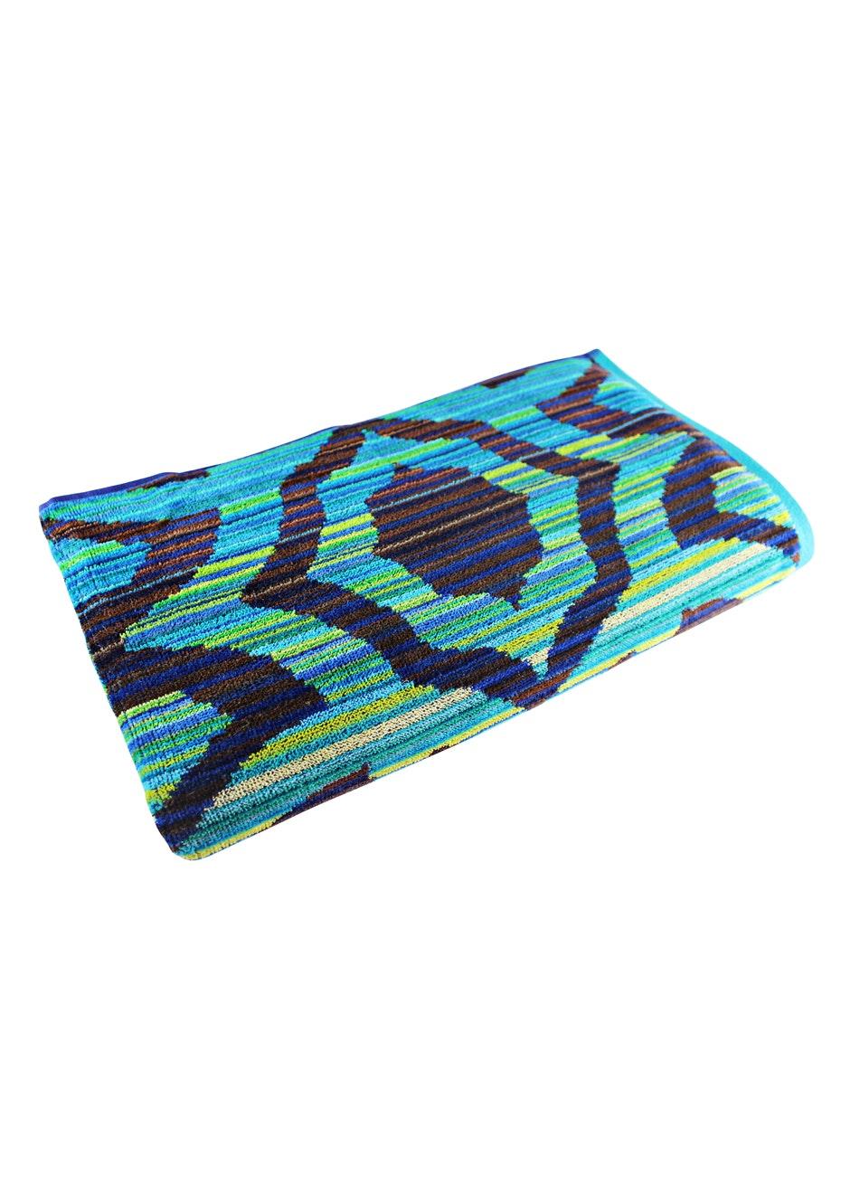 Ubud 100% Cotton Velour Jacquard Beach Towel - 100x180cm