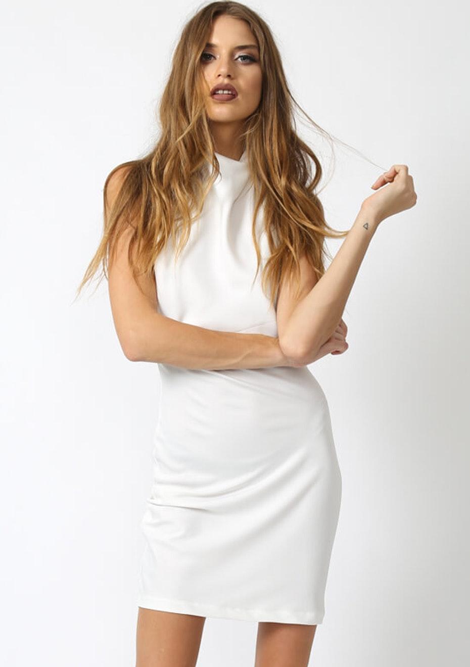Lioness - Palazzo Bianco Dress - White
