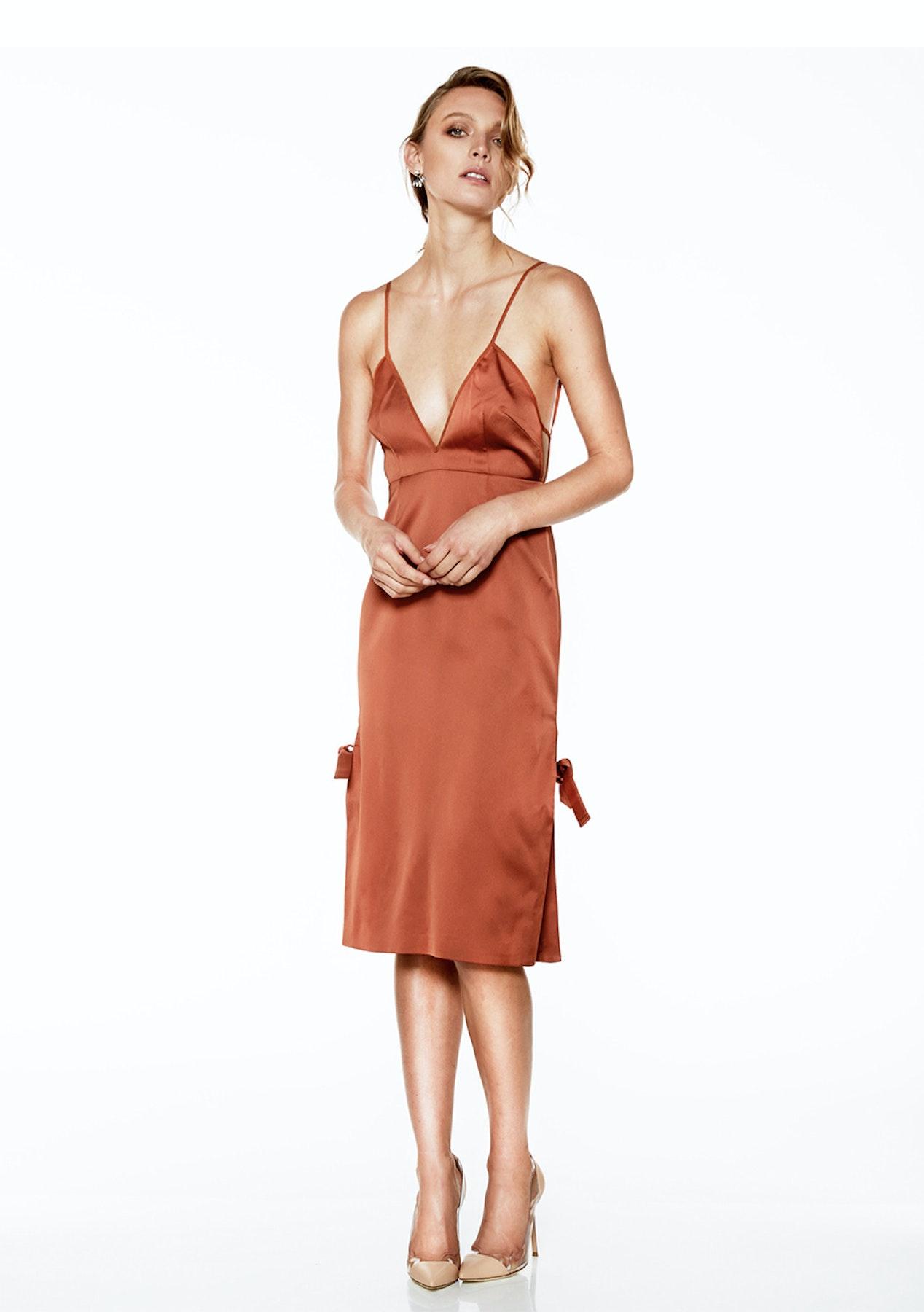 53c56811895e0 Talulah - Hartley Midi Dress - Bronze - Stevie May, Isla & Talulah - Onceit