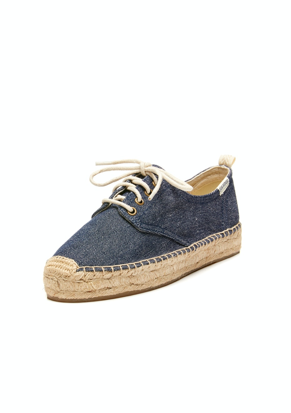 Soludos - Oxford Lace-Up Platform - dark denim