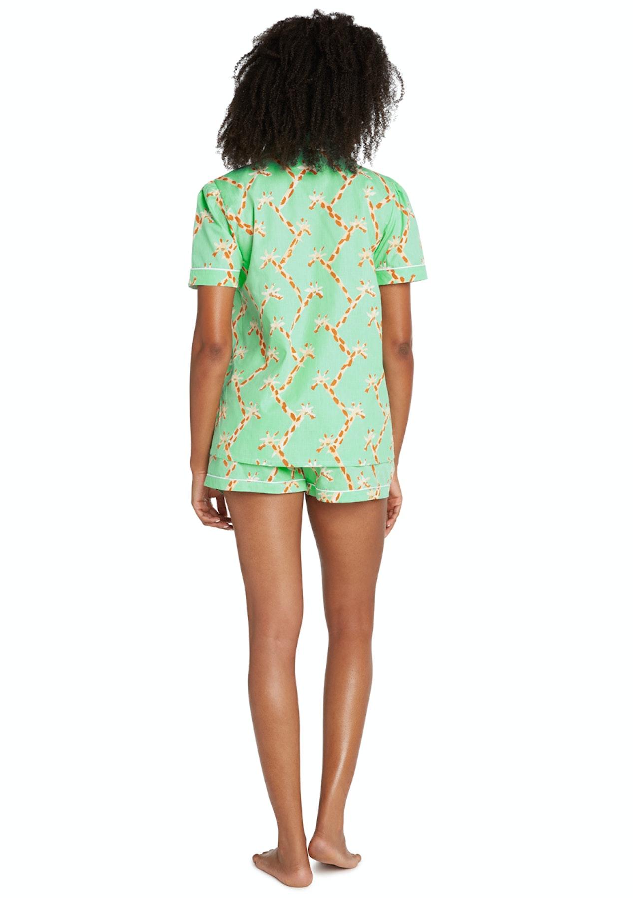 458d8c079f9c Sant   Abel - Women - Long Sleeve Shirt   PJ Pant Set - Giraffe - Luxe Silk    Sleepwear - Onceit