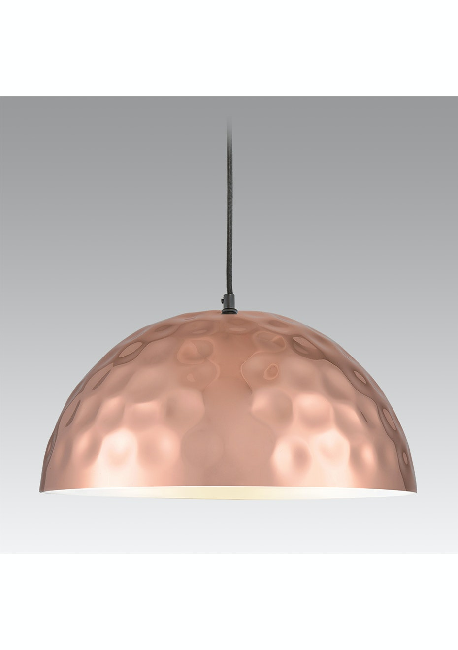 Noozi Copper Beaten Series Pendant Light Dome 400 Noozi Designer Living Lighting Cushions Throws Onceit