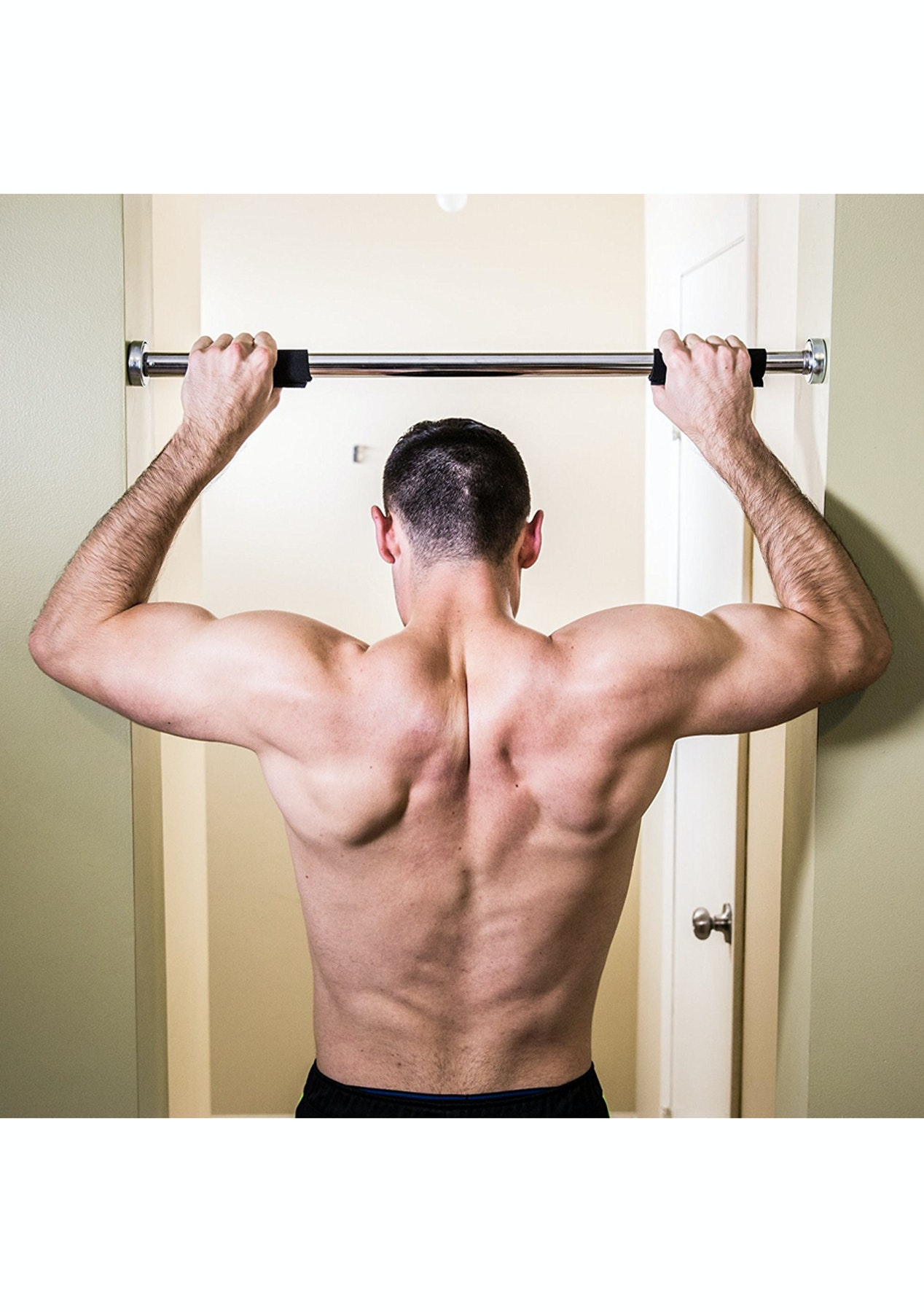 Home gym doorway chin up pull up bar fathers day gift ideas onceit