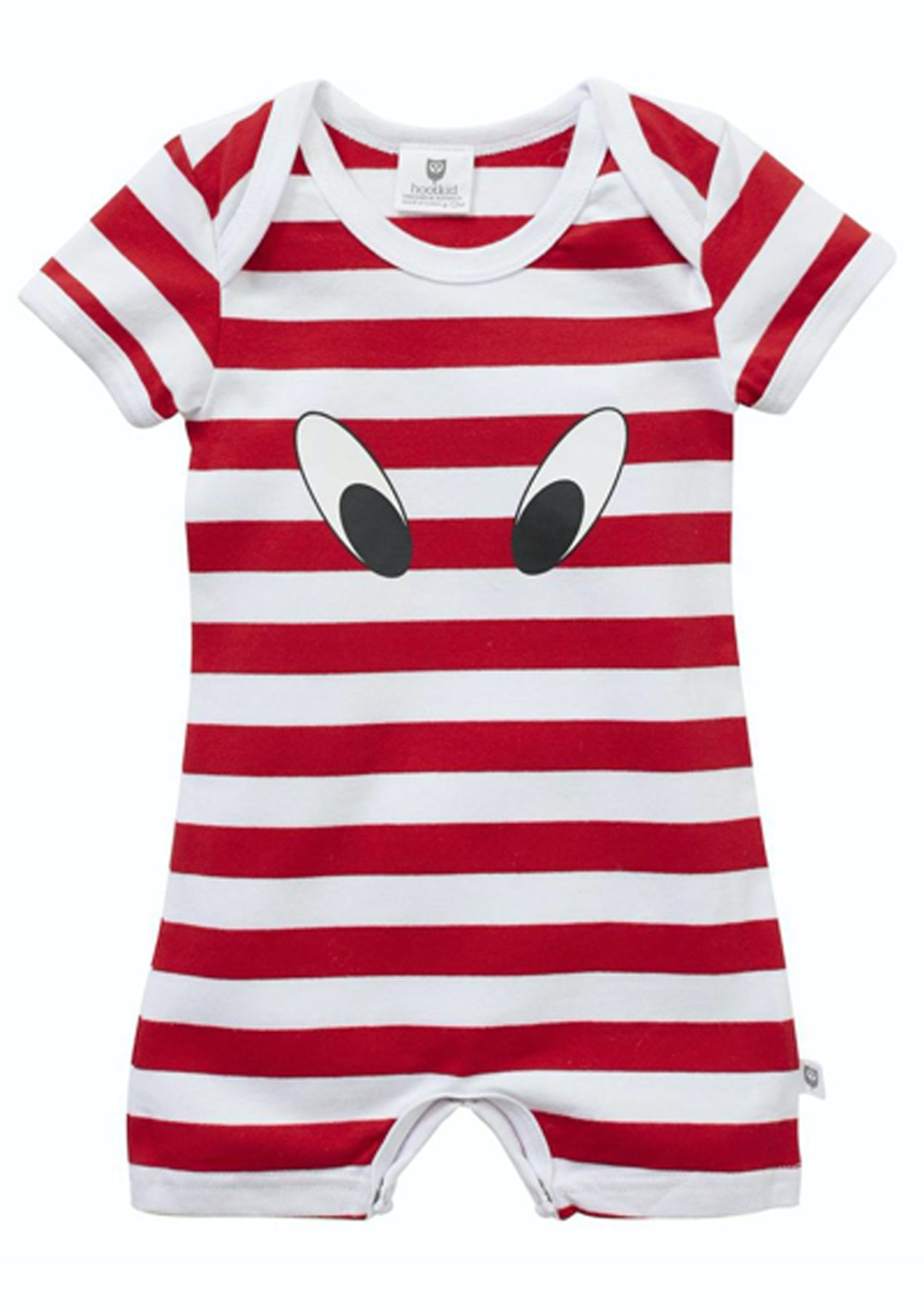 ed28cb931 Hootkid - Look Here Romper - Red White Stripe - Hootkid Everything ...
