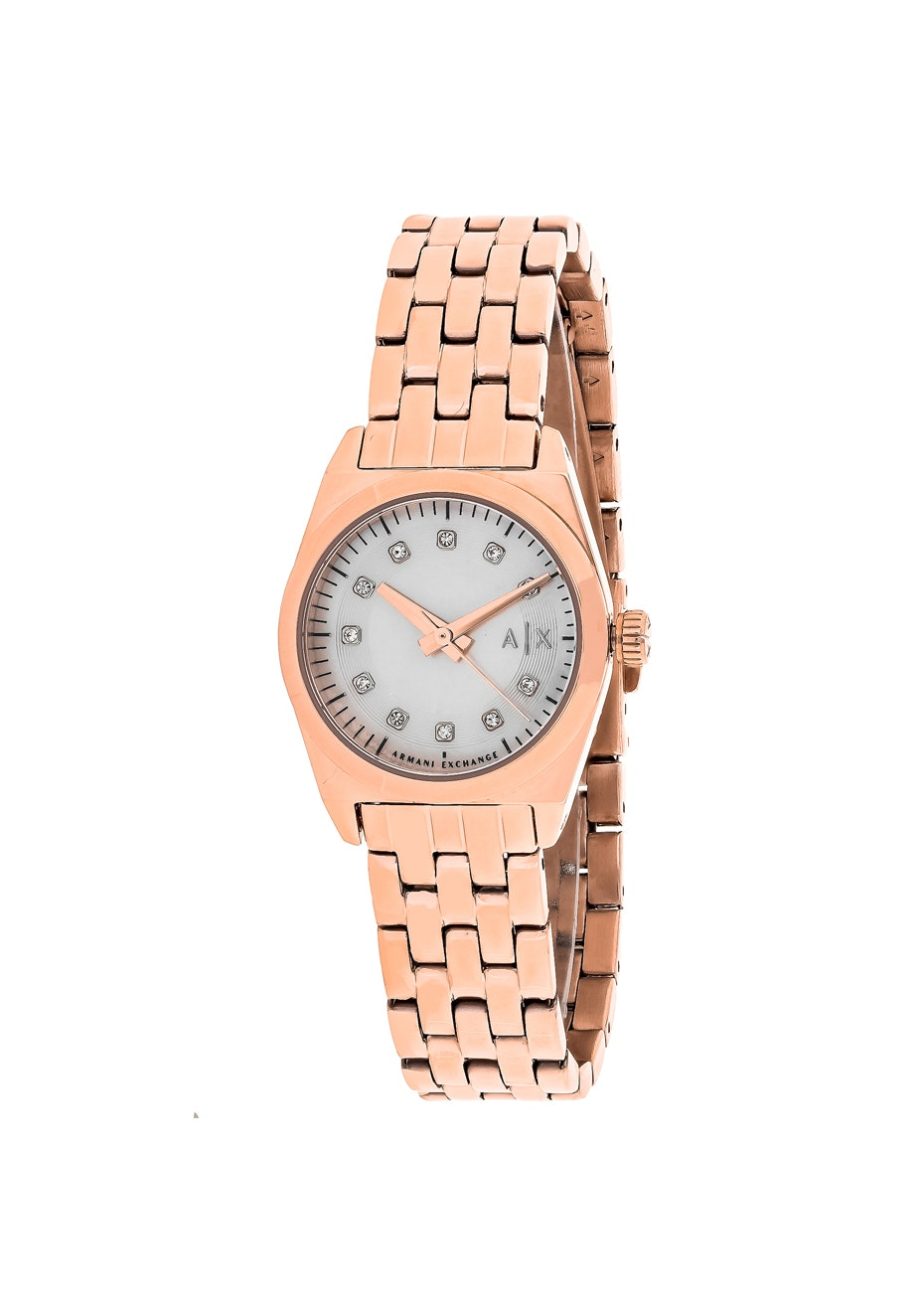 Armani Exchange Women's Miss Jackson - White MOP/Rose gold