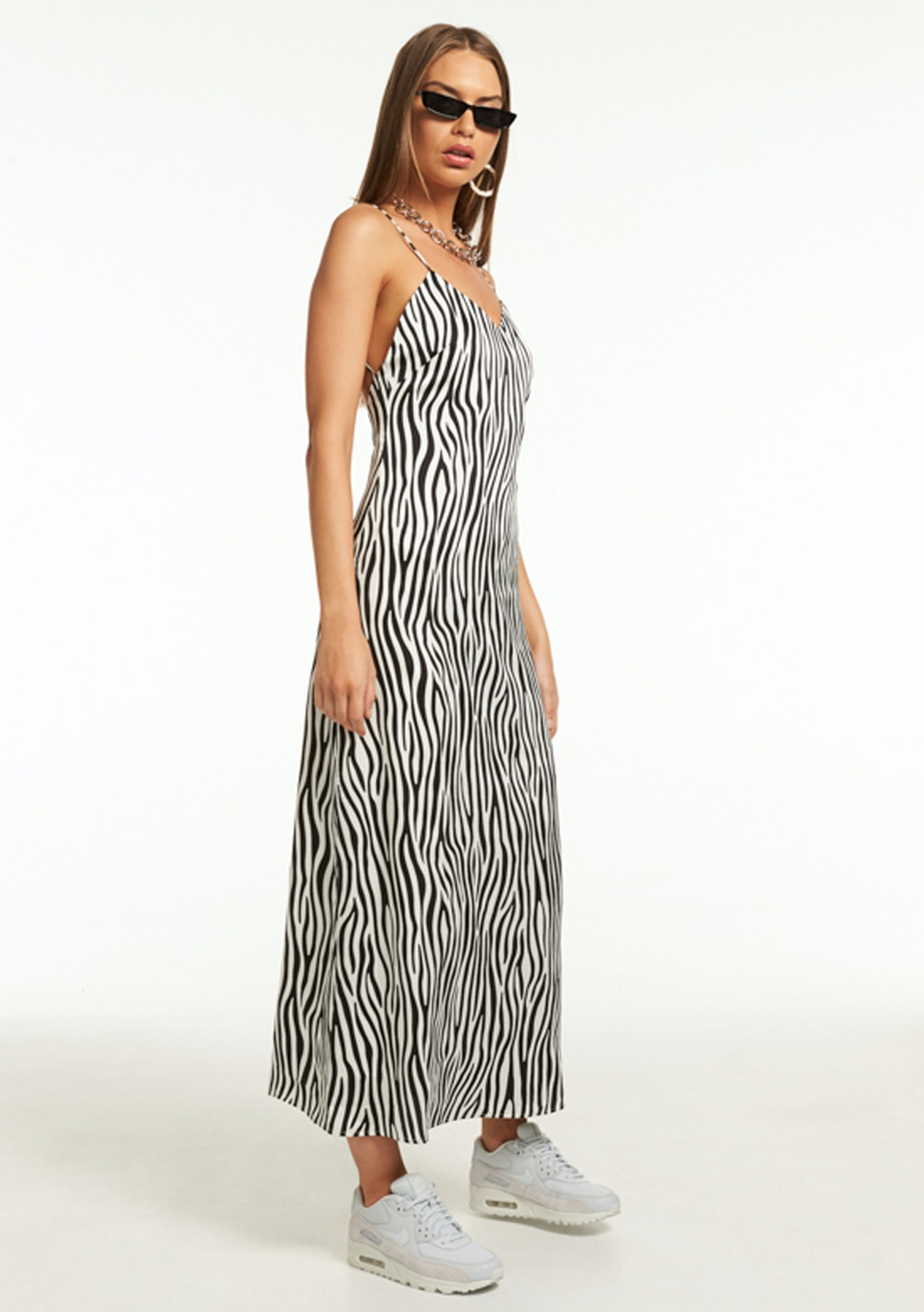 f9dd8ab6aa Lioness - Easy Does It Maxi Dress - Black White Zebra - New Lioness Under   40 - Onceit