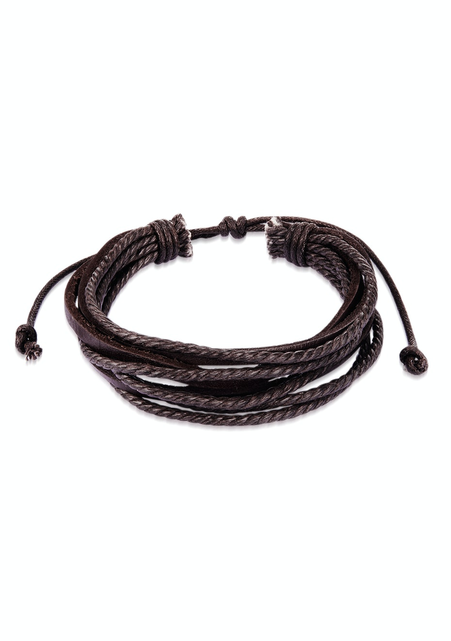 Genuine Cow Leather Milti-strand Bracelet-Brown