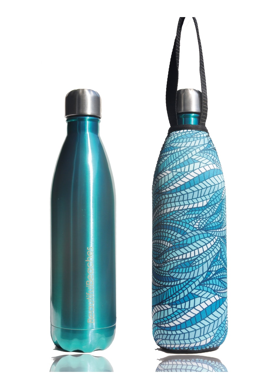BBBYO - Future Bottle+ Carry Cover (Sealeaf Print) -750 ml  Mint
