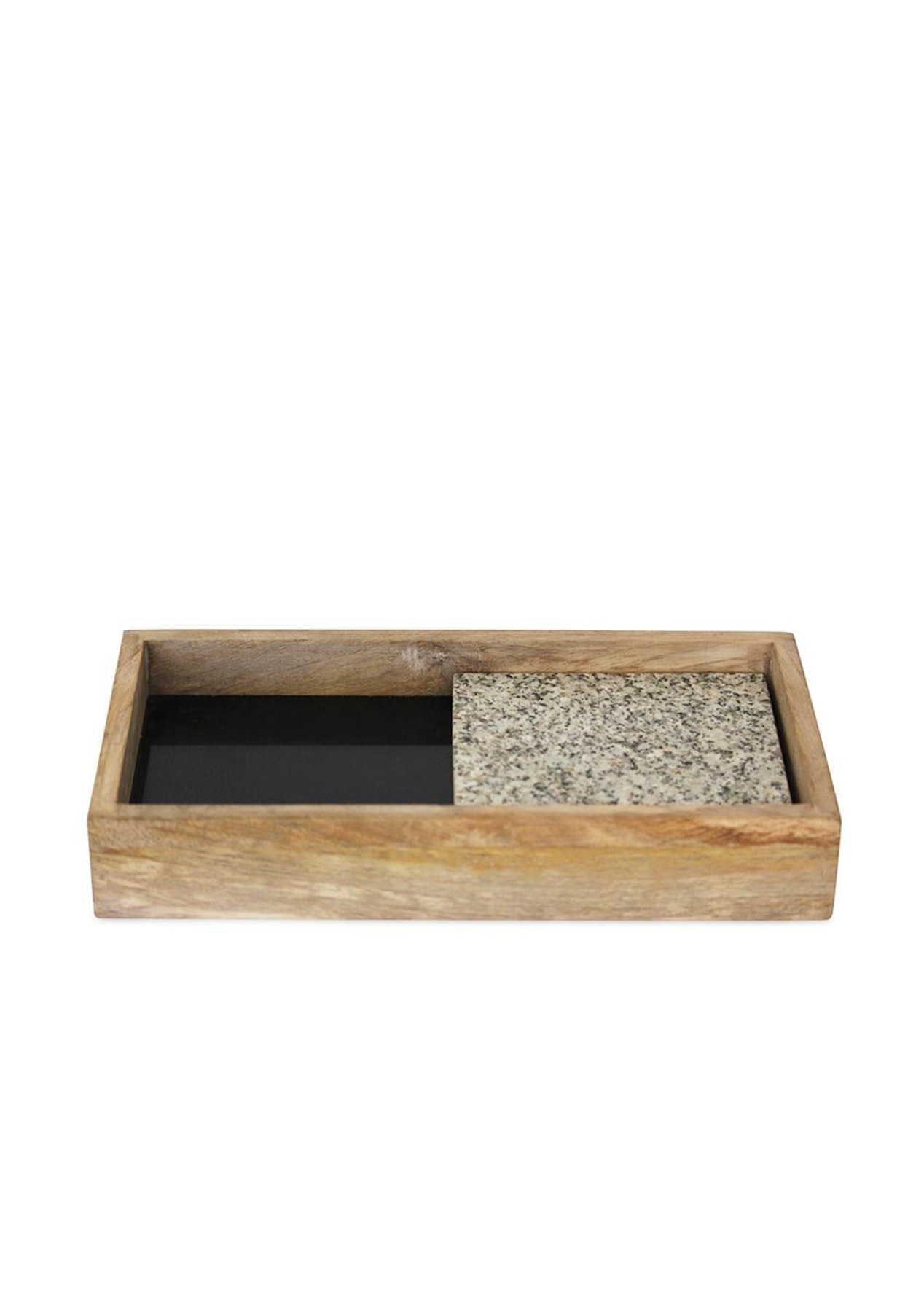 Me & My Trend - Black Granite Tray With White Tile - Me & My Trend & More -  Onceit