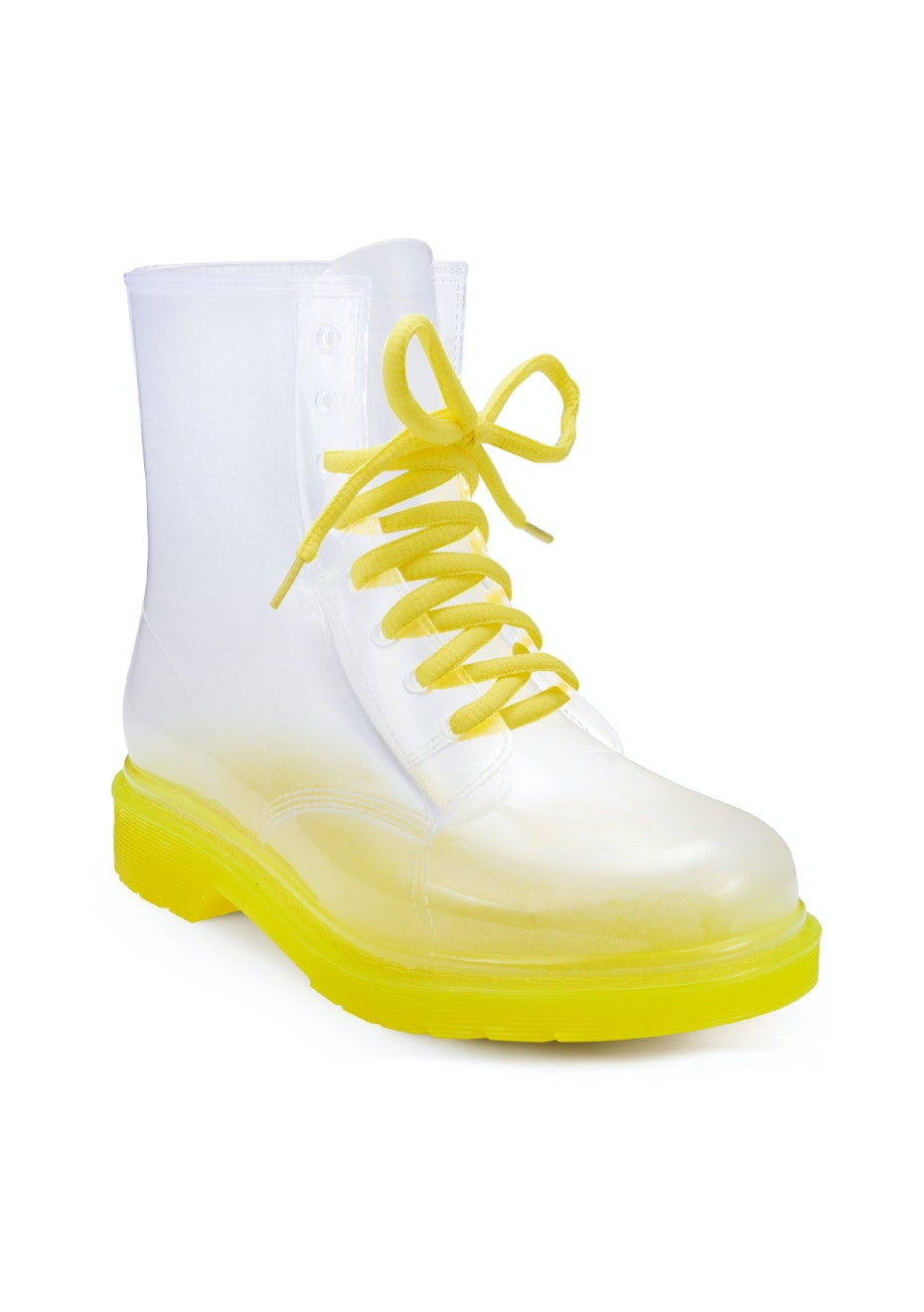 Yellow/Clear Combat Boot - Yellow/Clear