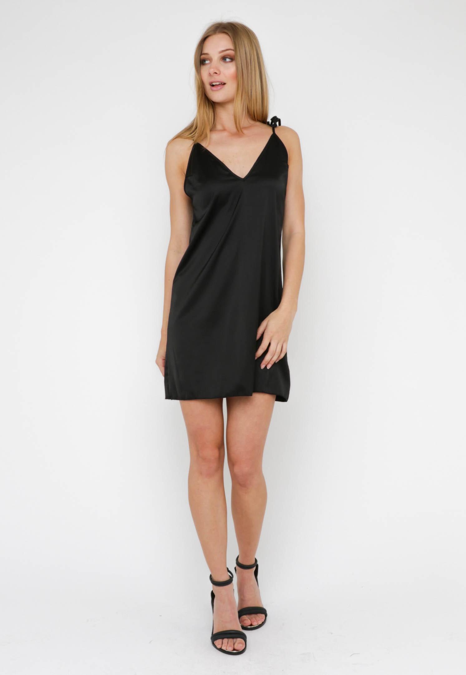 Tie It Up Dress - Black