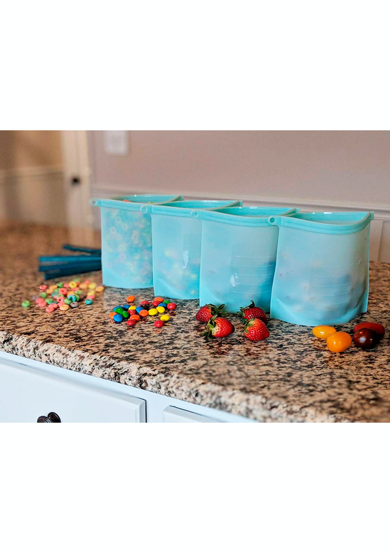 Reusable Silicone 1L Food Storage Bags 2pack