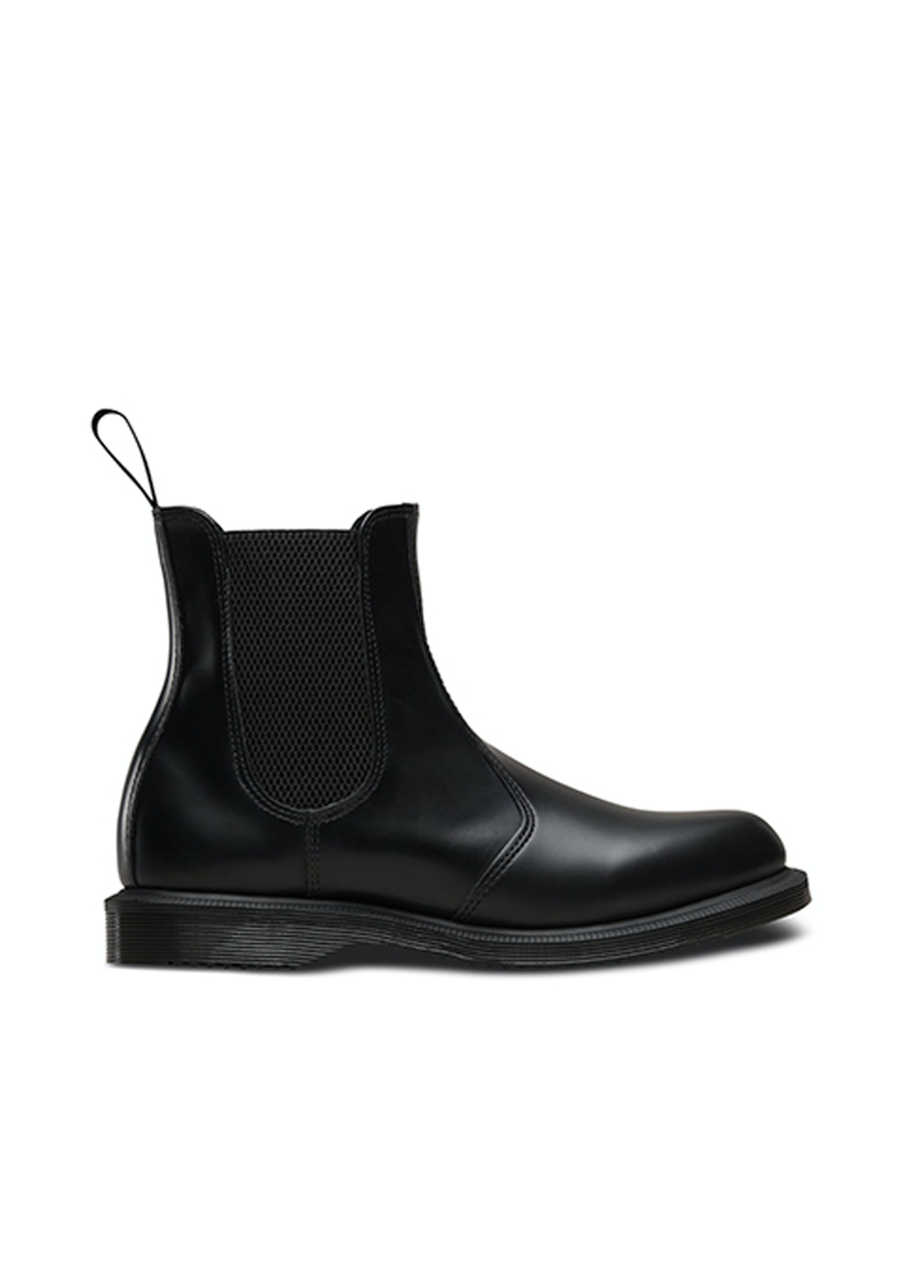 f8c73c18533 Dr Martens - Flora Smooth Chelsea Boot - Black - Boots For Winter - Onceit