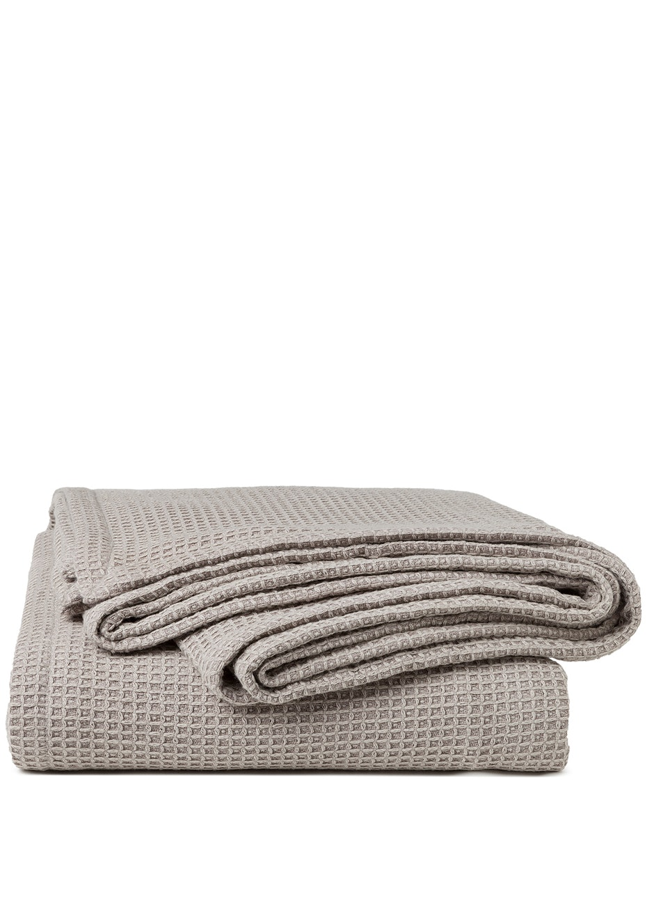 Sogno Linen Blend  Blanket Dolphin Grey