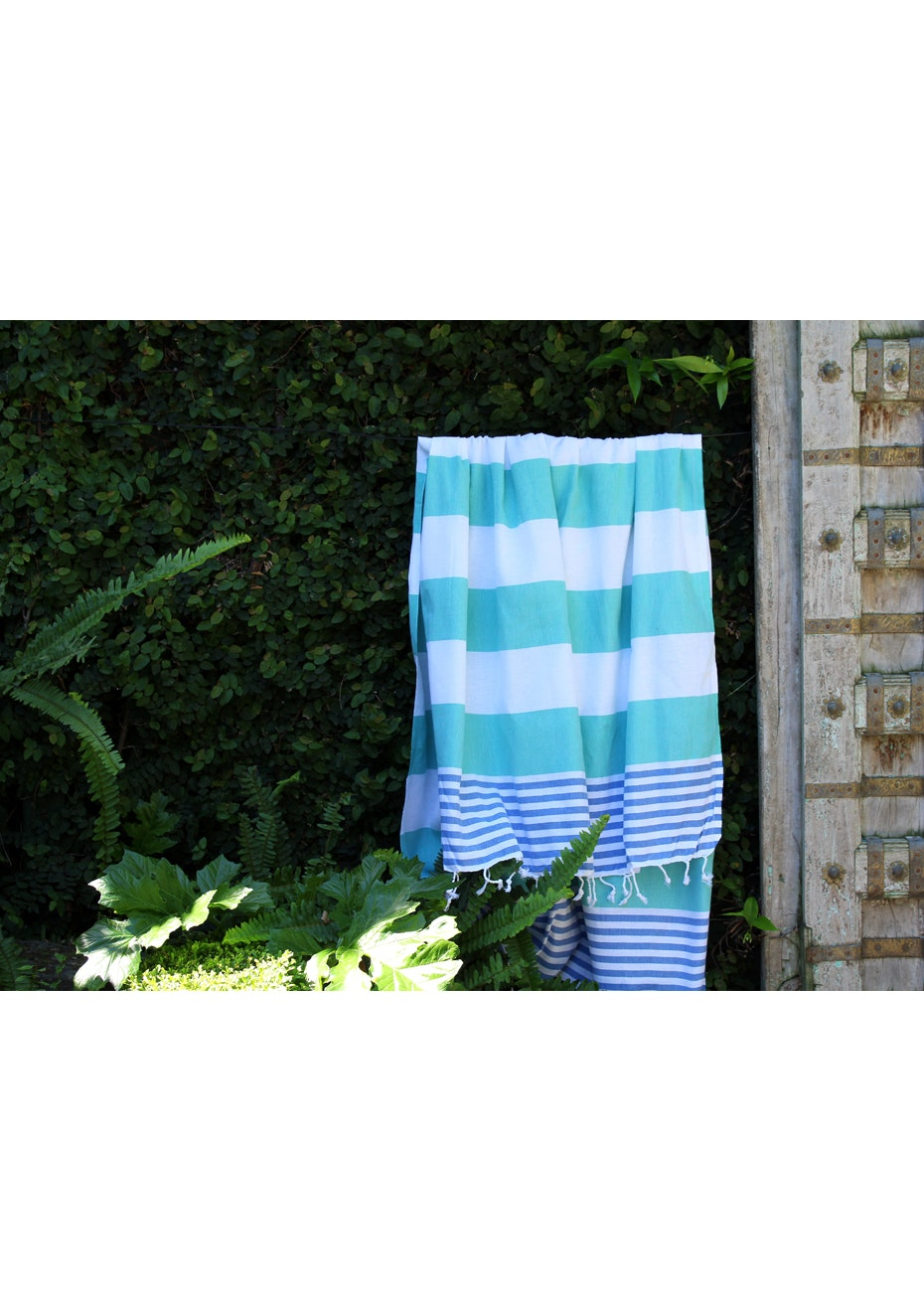 Ladon Sea Green & Royal Blue Turkish Towel