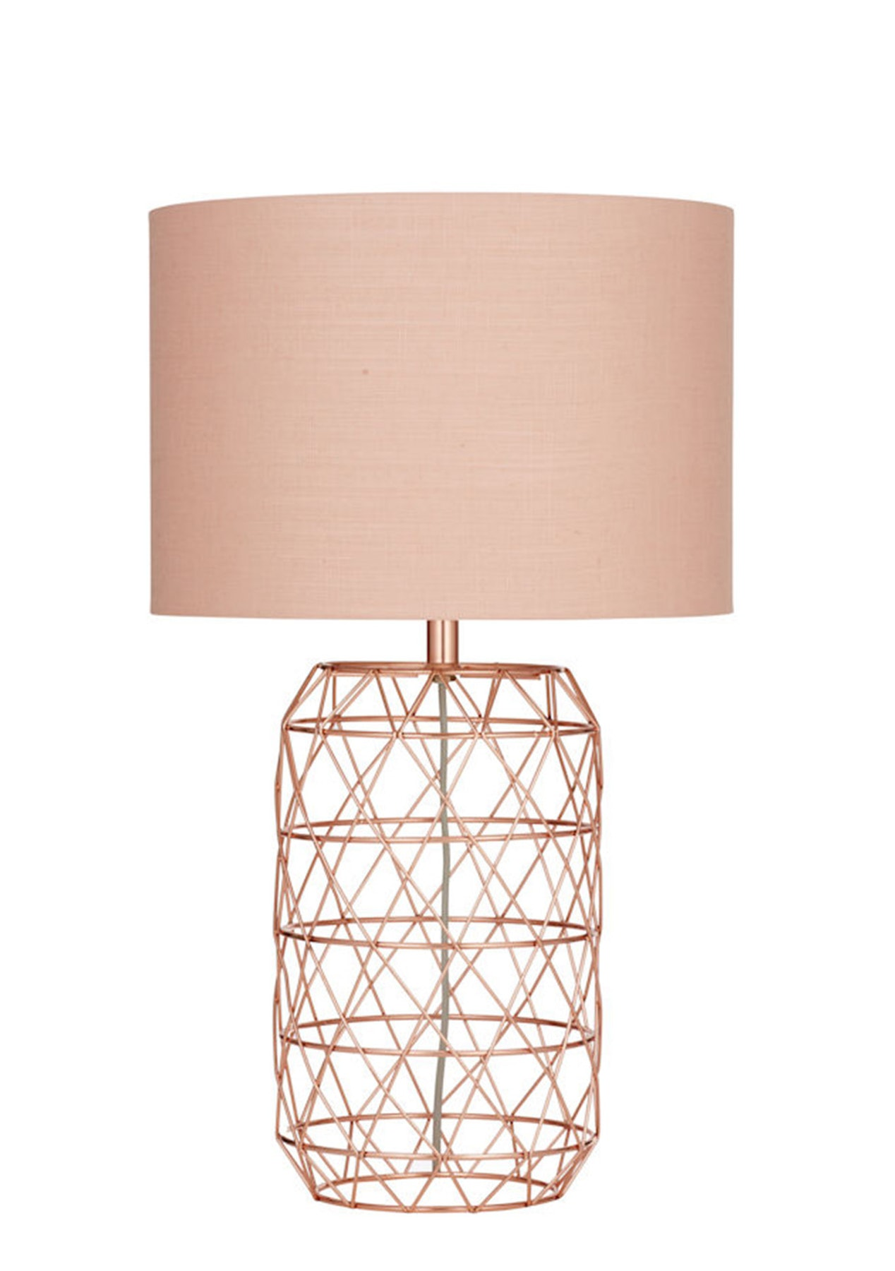 Amalfi ezra table lamp blush copper amalfi lighting for Amalfi copper floor lamp