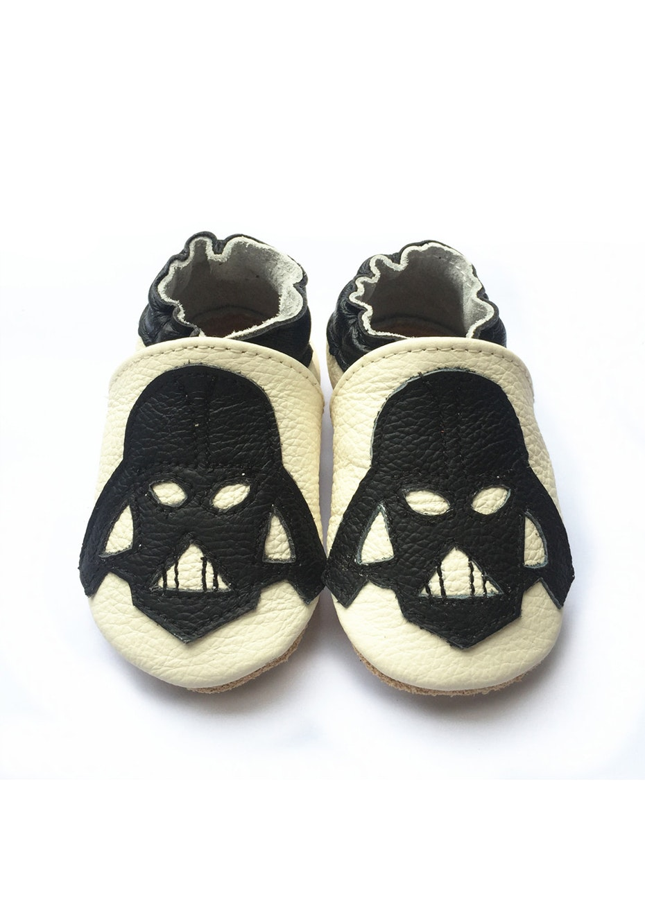 Baby  Leather Shoes - Cream / Black