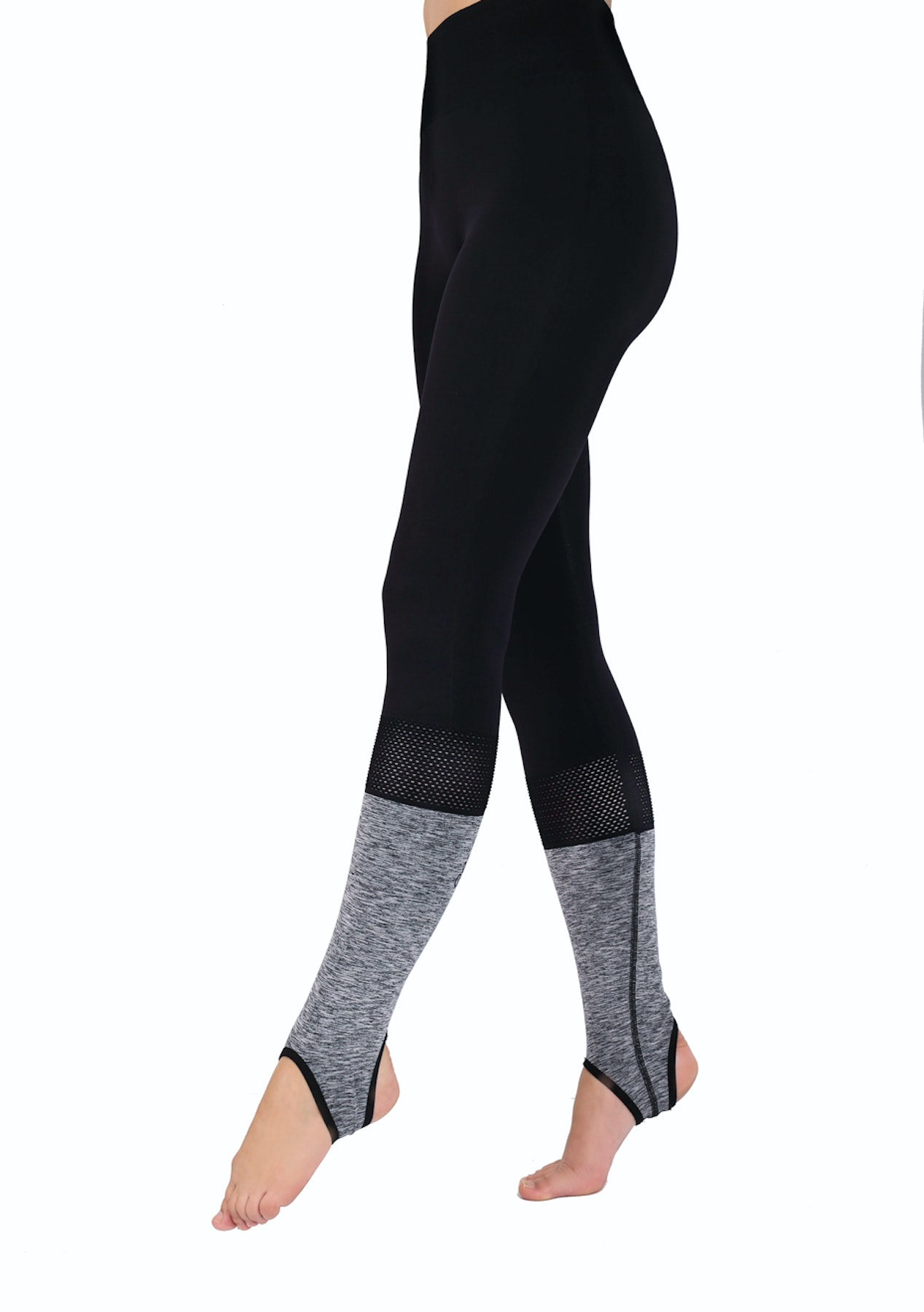 152a8076d232b Kisaiya - Striup Seamless Legging - Black/Grey - From $29.95 Leggings &  More - Onceit